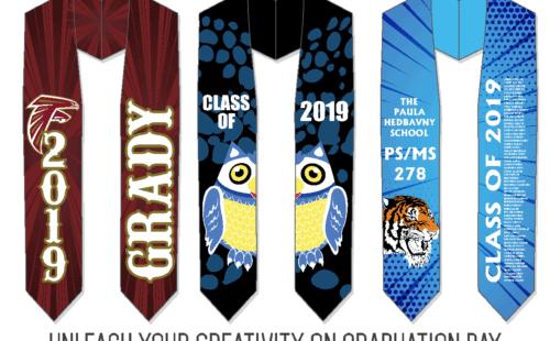 custom stole, full color custom stole, custom color and print stole, printed stole