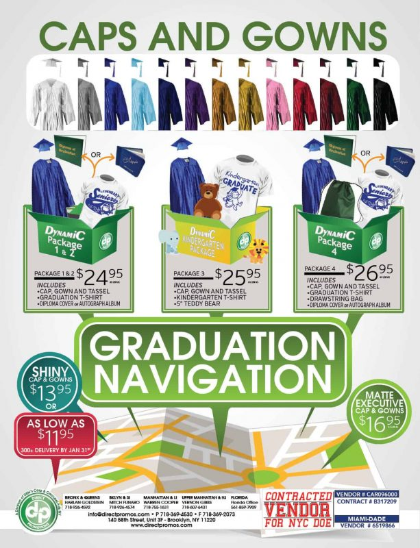 graduation products and packages